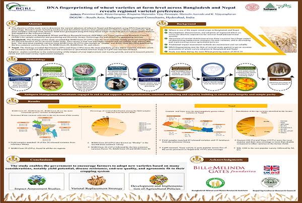 DNA fingerprinting of wheat varieties at farm level across Bangladesh and Nepal reveals regional varietal preferences
