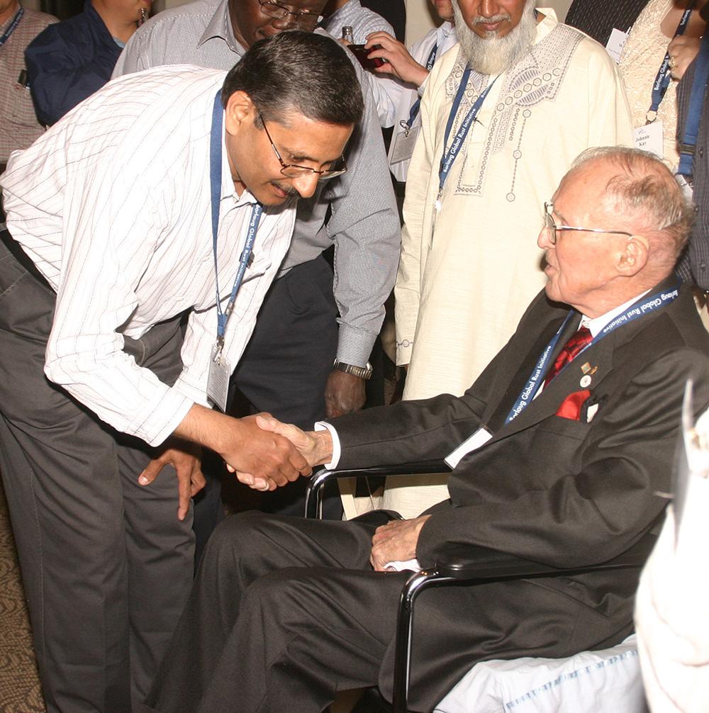 Ravi Singh with Norman Borlaug